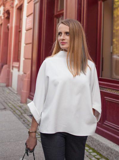 Tunika kremowa, krem z bielą