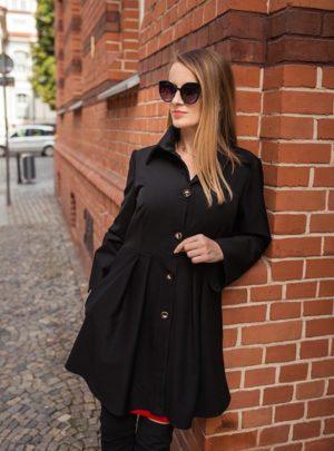 Sukienka czarna szmizjerka