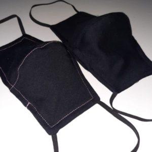 jednorazowe maseczki ochronne czarne