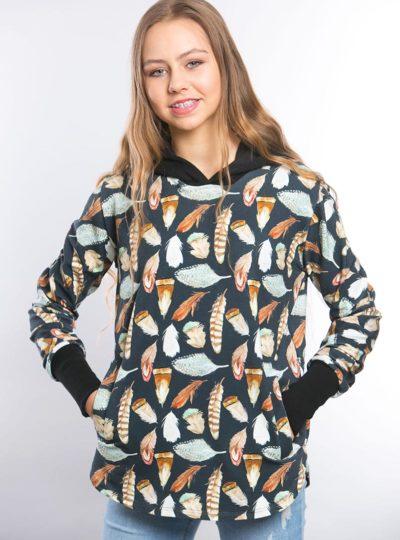 Bluza dresowa indiańskie piórko