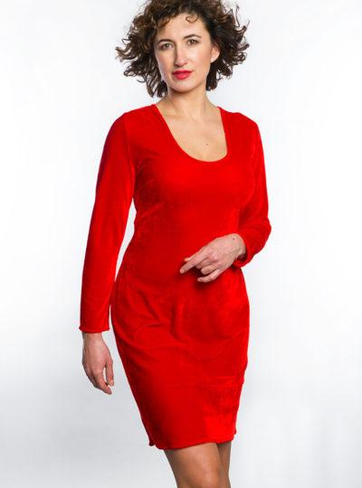 Sukienka welorowa